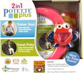 Zestaw Potette Plus 2w1 - książeczka + zabawka, różowy