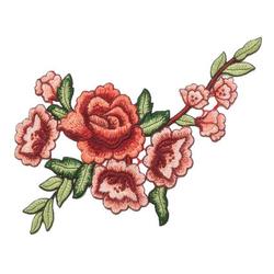 Naszywka haft duże kwiaty I - kwiaty I