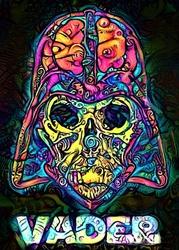 PsychoSkulls, Darth Vader, Star Wars Gwiezdne Wojny - plakat Wymiar do wyboru: 21x29,7 cm