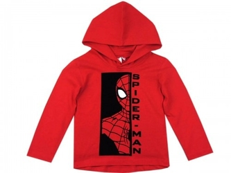 Bluzka spiderman z kapturem czerwona 4 lata