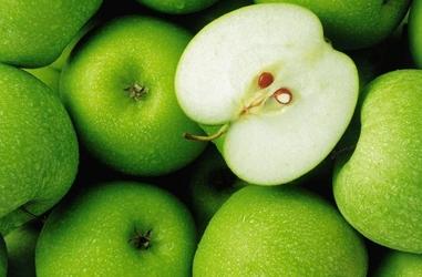 Zielone jabłka - fototapeta
