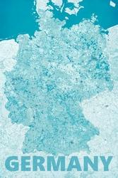Germany, modern blue - mapa