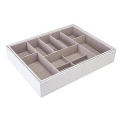 Wkład do szuflady na biżuterię, rozsuwany biały slider l stackers