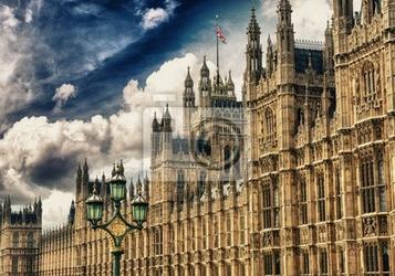Fototapeta houses of parliament, pałacu westminster, londyn gotycka architekturze