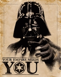 Star wars classic your empire needs you - plakat