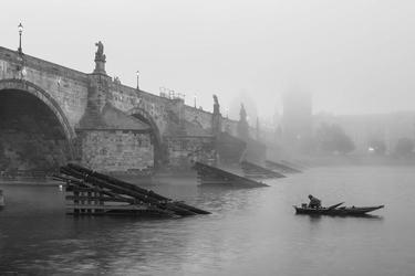 Praga, most - plakat premium wymiar do wyboru: 70x50 cm