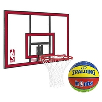 Zestaw tablica do koszykówki spalding nba polycarbonat backboard + piłka spalding nba junior