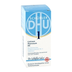 Biochemie dhu sól nr 1 fluorek wapnia d6, tabletki