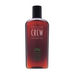 American crew official supplier to men 3-in-1 tea tree shampoo conditioner and body wash szampon odżywka i żel do kąpieli z drzewa herbacianego dla mężczyzn 450ml