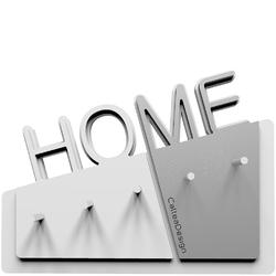 Wieszak na klucze Home CalleaDesign biały  aluminium 18-001-2