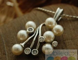 Legacy - srebrny wisior perły i kryształy