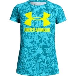 Koszulka dziewczęca under armour big logo tee novelty ss