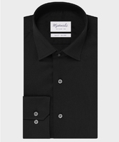 Elegancka czarna koszula michaelis z kołnierzem klasycznym 39