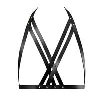 Uprząż jak stanik - bijoux indiscrets maze halter bra harness czarny