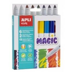 Flamastry magiczne apli kids - 8 kolorów