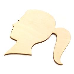 Drewniana dekoracja głowa kobiety 9,5x8,5 cm - GŁKO