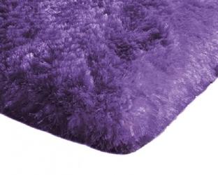 Dywan pluszowy mikrofibra wysoki shaggy 120x170 fioletowy