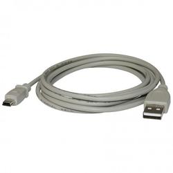 Kabel usb 2.0, usb a  m- usb mini 5pin m, 2m, czarny, logo, blistr