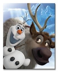Frozen olaf and sven - obraz na płótnie