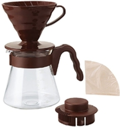 Hario | zestaw v60 pour over kit brown - drip rozmiar 02 + serwer + filtry
