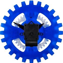 Zegar ścienny ruchome koła zębate moving gears nextime 35 cm, niebieski 3241 bl