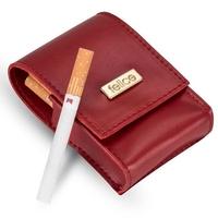 Damskie etui na papierosy felice fa14 standard czerwone - czerwony