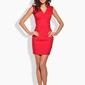 Czerwona dopasowana sukienka z dekoltem v