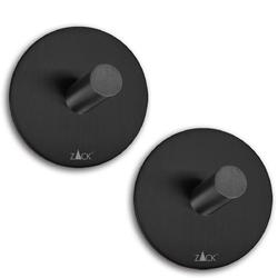 Wieszaki łazienkowe czarne duplo zack okrągłe 2 sztuki 40354