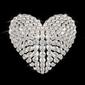 Obraz na płótnie canvas czteroczęściowy tetraptyk serce diamentu