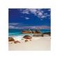 Seychelles - kamienie na plaży - reprodukcja
