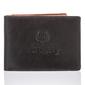 Super cienki portfel męski paolo peruzzi skórzany czarno brązowy