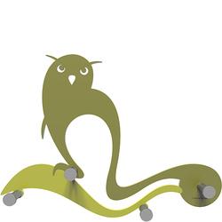 Wieszak ścienny Owl CalleaDesign oliwkowo-zielony 13-007-54
