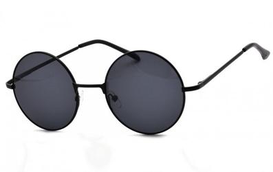 Lenonki czarne przeciwsłoneczne hippie retro 4321