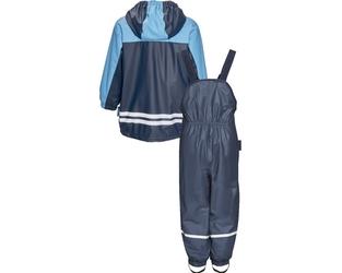 Komplet przeciwdeszczowy spodnie i kurtka granatowy Playshoes