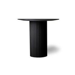 Hk living :: stolik pillar okrągły czarny
