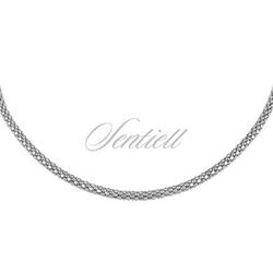 Łańcuszek srebrny 925 coreana rodowany - rodowanie