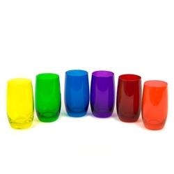 szklanki do drinków 320 ml kolorowe 6 szt.