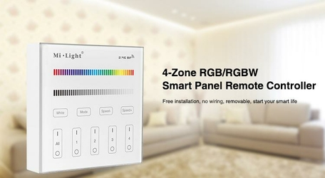 MILIGHT - 4-Zone RGBRGBW Smart Panel Remote Controller - B3