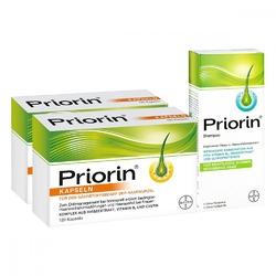 priorin, 2x kapsułki 120 szt. + szampon 200 ml zestaw