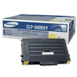 Toner Oryginalny Samsung CLP-500D5Y Żółty - DARMOWA DOSTAWA w 24h