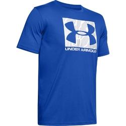 Koszulka męska under armour camo boxed logo ss - niebieski