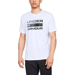 Koszulka męska under armour team issue wordmark ss - biały