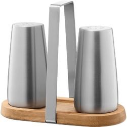Solniczka i pieprzniczka z bambusową podstawą bevo zack 20875