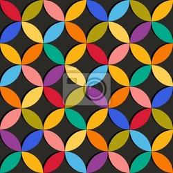 Fototapeta bezproblemowa geometryczny wzór z kolorowych elementów