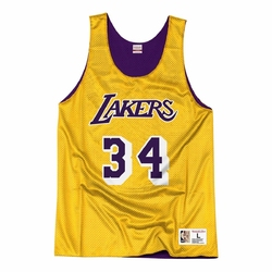 Koszulka mitchell  ness nba reversible mesh tank los angeles lakers shaquille oneal - nnrmda18007-lallgpr1son96 - shaquille oneal