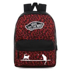 Plecak szkolny vans realm wild leopard - vn0a3ui6uy1 - custom cats