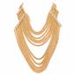 Naszyjnik z cyrkoniami złoty - złoty
