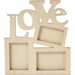 Drewniana ramka na zdjęcia - love