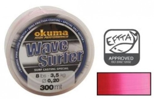 Żyłka surf castingowa wave surfer 300m 4lb 1,9kg 0,14mm różowa