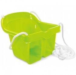 Huśtawka kubełkowa bezpieczna zielona mochtoys